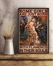 Some Girls Are Just Born With Flamenco In Their Souls Poster - Home Decor - Wall Art - No Frame Full Size 11x17 16x24 24x36 Inches 11x17 Poster lifestyle-poster-3