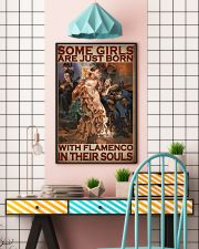 Some Girls Are Just Born With Flamenco In Their Souls Poster - Home Decor - Wall Art - No Frame Full Size 11x17 16x24 24x36 Inches 11x17 Poster lifestyle-poster-6