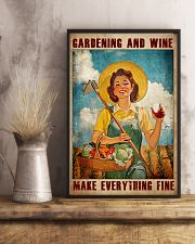 Gardening And Wine Make Everything Fine Poster - Poster For Gardeners - Gardener Birthday Xmas Gift - Home Decor - Wall Art - No Frame 11x17 Poster lifestyle-poster-3