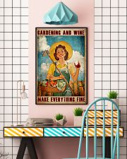 Gardening And Wine Make Everything Fine Poster - Poster For Gardeners - Gardener Birthday Xmas Gift - Home Decor - Wall Art - No Frame 11x17 Poster lifestyle-poster-6