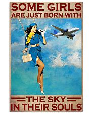 Some Girls Are Just Born With The Sky In Their Souls Poster - Poster For Flight Attendants - Flight Attendant Birthday Xmas Gift - Home Decor 11x17 Poster front