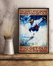 You Don't Stop Skiing When You Get Old You Get Old When you Stop Skiing Vintage Poster - Poster For Skiing Lovers - Skiing Lover Birthday Xmas Gift 11x17 Poster lifestyle-poster-3