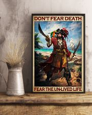 Don't Fear Death Fear The Unlived Life Vintage Poster - No Frame Full Size 11x17 16x24 24x36 Inches 11x17 Poster lifestyle-poster-3