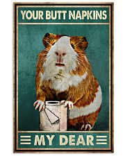 Your Butt Napkins My Dear Poster - Hamster And Paper Funny Toilet Poster - Home Decor - No Frame Full Size 11x17 16x24 24x36 Inches 11x17 Poster front
