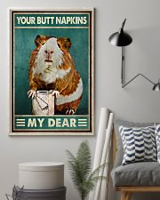 Your Butt Napkins My Dear Poster - Hamster And Paper Funny Toilet Poster - Home Decor - No Frame Full Size 11x17 16x24 24x36 Inches 11x17 Poster lifestyle-poster-1
