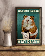 Your Butt Napkins My Dear Poster - Hamster And Paper Funny Toilet Poster - Home Decor - No Frame Full Size 11x17 16x24 24x36 Inches 11x17 Poster lifestyle-poster-3