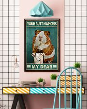 Your Butt Napkins My Dear Poster - Hamster And Paper Funny Toilet Poster - Home Decor - No Frame Full Size 11x17 16x24 24x36 Inches 11x17 Poster lifestyle-poster-6