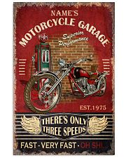 Name's Motorcycle Garage There's Only Three Speed Fast Very Fast Oh Shit Poster - Poster For Motorcycle Garages - No Frame 11x17 Poster front