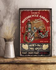 Name's Motorcycle Garage There's Only Three Speed Fast Very Fast Oh Shit Poster - Poster For Motorcycle Garages - No Frame 11x17 Poster lifestyle-poster-3