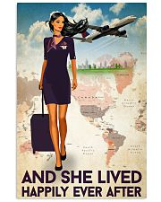 And She Lived Happily Ever After Poster - Poster For Flight Attendants - Home Decor - No Frame Full Size 11x17 16x24 24x36 Inches 11x17 Poster front