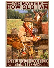 No Matter How Old I Am I Still Get Excited Every Time I See A Horse Poster - Home Decor - No Frame Full Size 11x17 16x24 24x36 Inches 11x17 Poster front