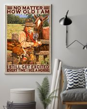 No Matter How Old I Am I Still Get Excited Every Time I See A Horse Poster - Home Decor - No Frame Full Size 11x17 16x24 24x36 Inches 11x17 Poster lifestyle-poster-1
