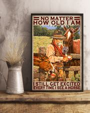 No Matter How Old I Am I Still Get Excited Every Time I See A Horse Poster - Home Decor - No Frame Full Size 11x17 16x24 24x36 Inches 11x17 Poster lifestyle-poster-3
