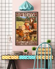 No Matter How Old I Am I Still Get Excited Every Time I See A Horse Poster - Home Decor - No Frame Full Size 11x17 16x24 24x36 Inches 11x17 Poster lifestyle-poster-6