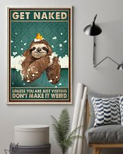 Get Naked Unless You Are Just Visiting Don't Make It Weird Poster - Otter Funny Toilet Poster - Bathroom Decor-No Frame Full Size 11x17 16x24 24x36'' 11x17 Poster lifestyle-poster-1