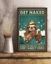 Get Naked Unless You Are Just Visiting Don't Make It Weird Poster - Otter Funny Toilet Poster - Bathroom Decor-No Frame Full Size 11x17 16x24 24x36'' 11x17 Poster lifestyle-poster-3
