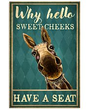 Why Hello Sweet Cheeks Have A Seat Poster - Donkey Funny Toilet Poster - Bathroom Decor - No Frame Full Size 11x17 16x24 24x36 Inches 11x17 Poster front