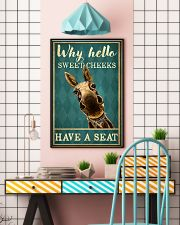 Why Hello Sweet Cheeks Have A Seat Poster - Donkey Funny Toilet Poster - Bathroom Decor - No Frame Full Size 11x17 16x24 24x36 Inches 11x17 Poster lifestyle-poster-6