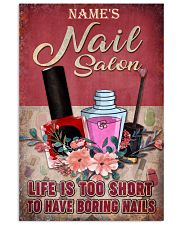 Name's Nail Salon Life Is Too Short To Have Boring Nails Customized Poster - Poster for Nail Salon - No Frame Full Size 11x17 16x24 24x36 Inches 11x17 Poster front