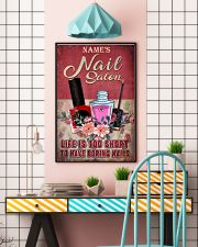 Name's Nail Salon Life Is Too Short To Have Boring Nails Customized Poster - Poster for Nail Salon - No Frame Full Size 11x17 16x24 24x36 Inches 11x17 Poster lifestyle-poster-6