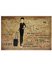 Once You Have Tasted Flight You Will Forever Walk The Earth With Your Eyes Turned Skyward Flight Attendant Poster - No Frame 17x11 24x16 36x24 Inches 17x11 Poster front
