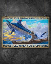 You Don't Stop Fishing When You Get Old You Get Old When You Stop Fishing Poster - Poster For Fishermen - Fisherman Birthday Xmas Gift - Home Decor 17x11 Poster aos-poster-landscape-17x11-lifestyle-12