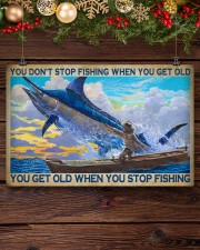 You Don't Stop Fishing When You Get Old You Get Old When You Stop Fishing Poster - Poster For Fishermen - Fisherman Birthday Xmas Gift - Home Decor 17x11 Poster aos-poster-landscape-17x11-lifestyle-27