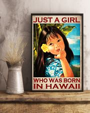 Just A Girl Who Was Born In Hawaii Poster - Hawaiian Girl Poster - Home Decor - No Frame Full Size 11''x17'' 16''x24'' 24''x36'' - Wall Art 11x17 Poster lifestyle-poster-3