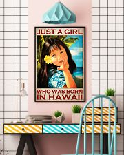 Just A Girl Who Was Born In Hawaii Poster - Hawaiian Girl Poster - Home Decor - No Frame Full Size 11''x17'' 16''x24'' 24''x36'' - Wall Art 11x17 Poster lifestyle-poster-6