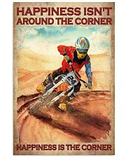 Happiness Isn't Around The Corner Happiness Is The Corner Poster - Poster For Motorcycle Riders - Motorbike Rider Birthday Xmas Gift - Home Decor 11x17 Poster front