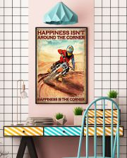 Happiness Isn't Around The Corner Happiness Is The Corner Poster - Poster For Motorcycle Riders - Motorbike Rider Birthday Xmas Gift - Home Decor 11x17 Poster lifestyle-poster-6