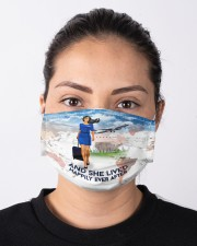 And She Lived Happily Ever After Face Mask - Mask For Flight Attendants - Flight Attendant Birthday Xmas Gift  Cloth face mask aos-face-mask-lifestyle-01
