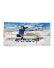 And She Lived Happily Ever After Face Mask - Mask For Flight Attendants - Flight Attendant Birthday Xmas Gift  Cloth face mask front