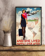 And She Lived Happily Ever After Flight Attendant Poster - Home Decor - No Frame Full Size 11x17 16x24 24x36 Inches 11x17 Poster lifestyle-poster-3