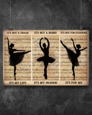 It's Not A Phase It's My Life It's Not A Hobby It's My Passion It's Not For Everyone It's For me Poster-Ballet Dancing Poster-Poster For Ballet Dancer 17x11 Poster aos-poster-landscape-17x11-lifestyle-12