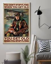 You Don't Stop Flying When You Get Old You Get Old When you Stop Flying Vintage Poster - Poster For Pilots - Pilot Birthday Xmas Gift - Home Decor  11x17 Poster lifestyle-poster-1