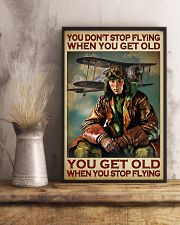 You Don't Stop Flying When You Get Old You Get Old When you Stop Flying Vintage Poster - Poster For Pilots - Pilot Birthday Xmas Gift - Home Decor  11x17 Poster lifestyle-poster-3