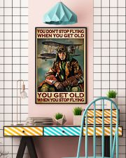 You Don't Stop Flying When You Get Old You Get Old When you Stop Flying Vintage Poster - Poster For Pilots - Pilot Birthday Xmas Gift - Home Decor  11x17 Poster lifestyle-poster-6