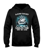 I AM EAGLES FAN Hooded Sweatshirt thumbnail