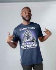 I AM COWBOYS FAN Classic T-Shirt apparel-classic-tshirt-lifestyle-front-32