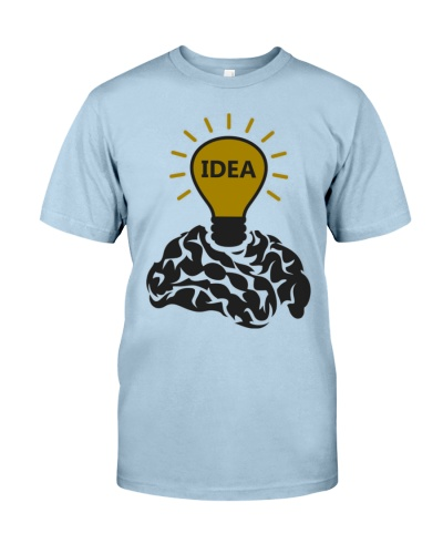 Idea Of A Brain Father Shirt Papa Tee Daddy Gifts