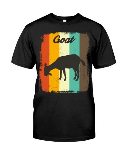 Goat Retro 70S Vintage Animal Lover Gift Goat Shir