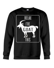 Relax Ive Goat This Funny Animal T Shirt Gift Goat Crewneck Sweatshirt thumbnail