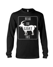 Relax Ive Goat This Funny Animal T Shirt Gift Goat Long Sleeve Tee thumbnail