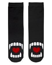 The Vampire Debt - Love Bites alt design Crew Length Socks thumbnail