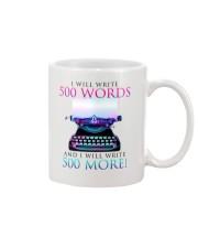I will write Mug front