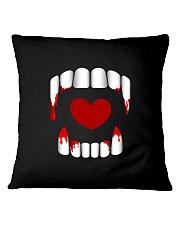 The Vampire Debt - Love Bites Square Pillowcase thumbnail
