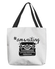 Hashtag AmWriting - Typewriter All-over Tote thumbnail