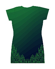 Seattle Emerald City Pattern All-over Dress back