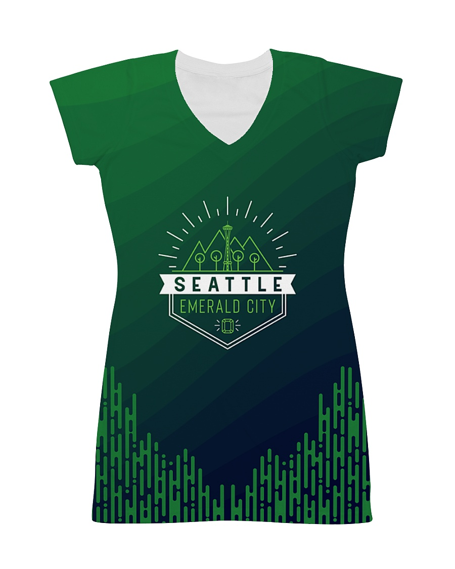 Seattle Emerald City Pattern All-over Dress